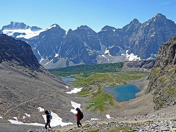 Moraine Lake Trail Map Canada Paradise Valley to Moraine Lake via Sentinel Pass Hiking Trail in