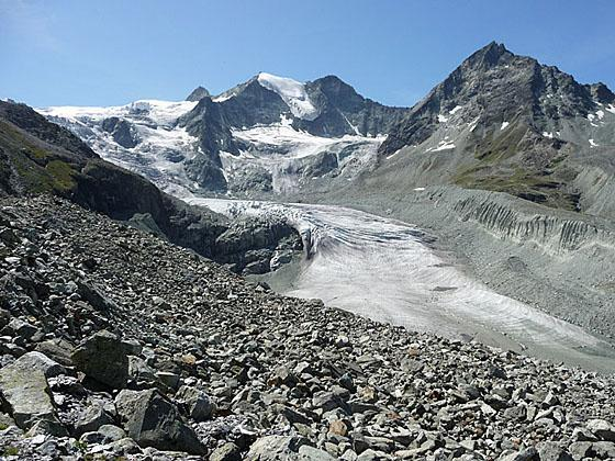 View of the Moiry Glacier