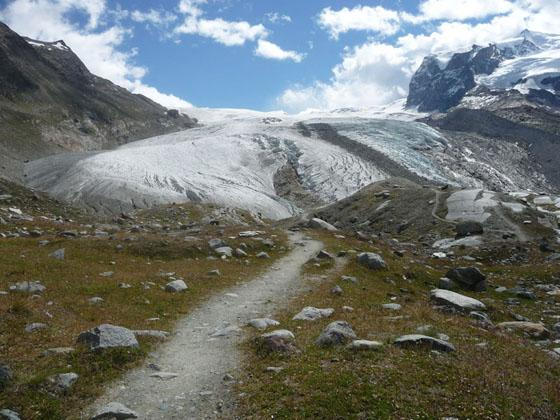 Approaching the Gorner Glacier Viewpoint