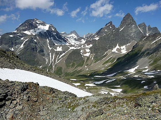 Piz Fliana, the Verstanclahorn and Piz Buin