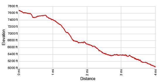 Elevation Profile - Hannig to Saas Fee