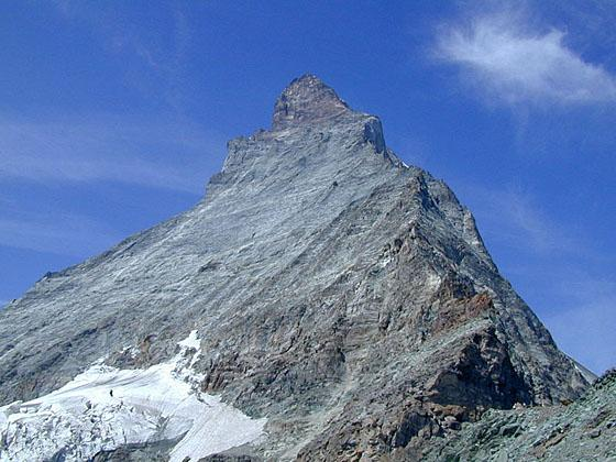 Looking up at the Matterhorn from the spot just above the hut