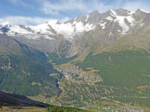 Great views of the Saas Fee Valley