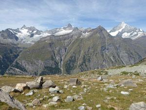 View extends from the Ober Gabelhorn to the Weisshorn