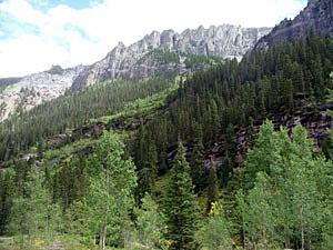 East wall of the Bear Creek drainage