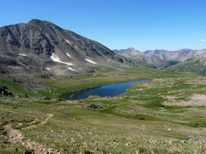 View of Independence Lake from Lost Man Pass