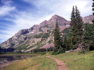 West Maroon Pass Trail Hiking Detail  Hiking trail near