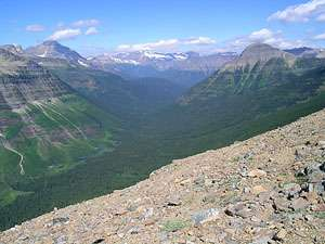 View to the northwest from Dawson Pass
