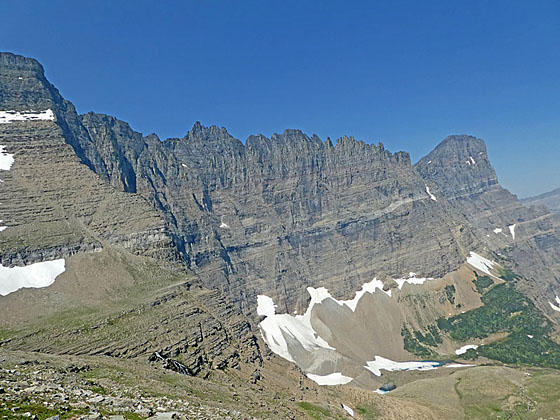 Piegan Pass From Many Glacier Hike In Glacier National Park Mt