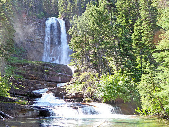 acheter pas cher b037e 29f04 Three Falls hiking trail near St Mary in Glacier National ...