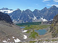 Valley of the Ten Peaks from Sentinel Pass