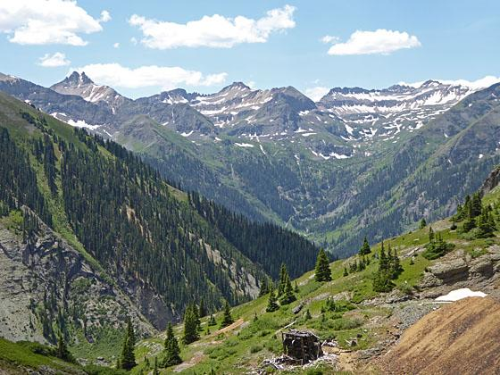 View up the Bridal Veil valley to the south
