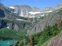 Grinnell Lake and Grinnell Glacier