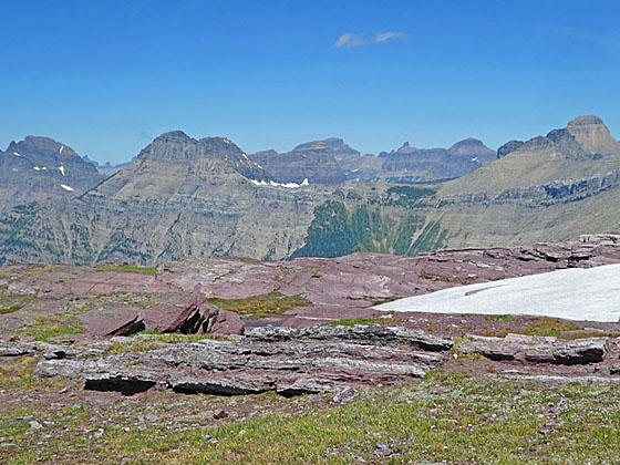 Panorama of high peaks from Comeau Pass